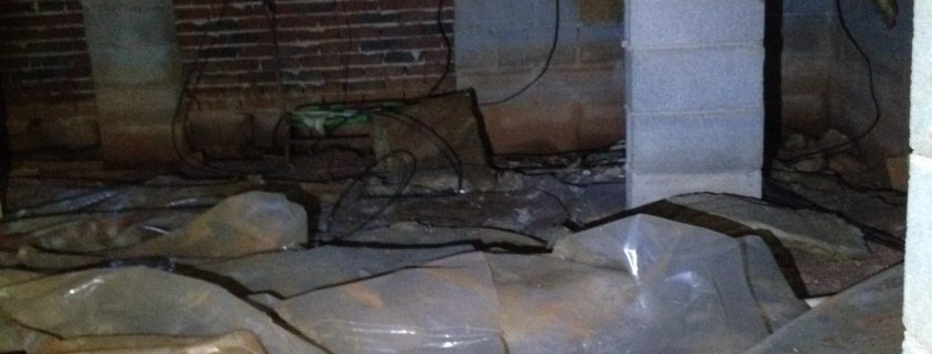 Indoor air quality crawl space