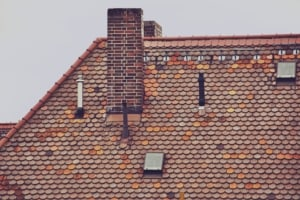 Roof with Chimney and Roof Penetrations